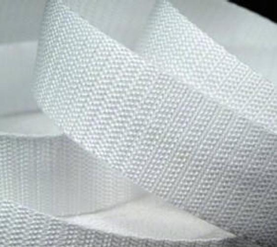 25 Meter Rolle Gurtband 4 cm breit, Farbe weiss