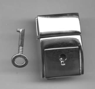 steckschloss f r taschen 30 mm breit 45 mm hoch nickel. Black Bedroom Furniture Sets. Home Design Ideas