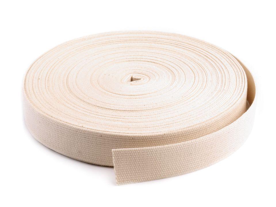 25 meter rolle gurtband 3 cm 30 mm breit baumwolle farbe natur kaufen im shop bei. Black Bedroom Furniture Sets. Home Design Ideas
