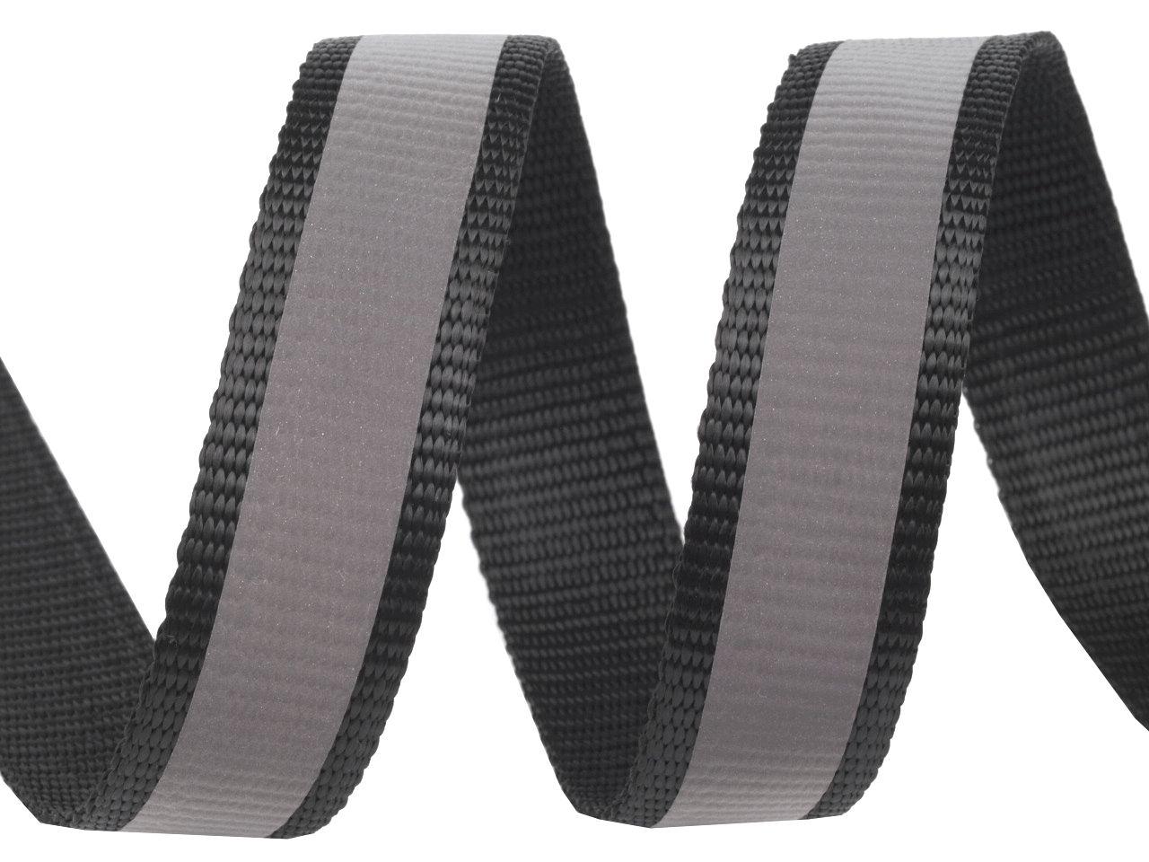 4 meter schwarzes gurtband reflektionsband 2 5 cm 25 mm breit kaufen im shop bei. Black Bedroom Furniture Sets. Home Design Ideas