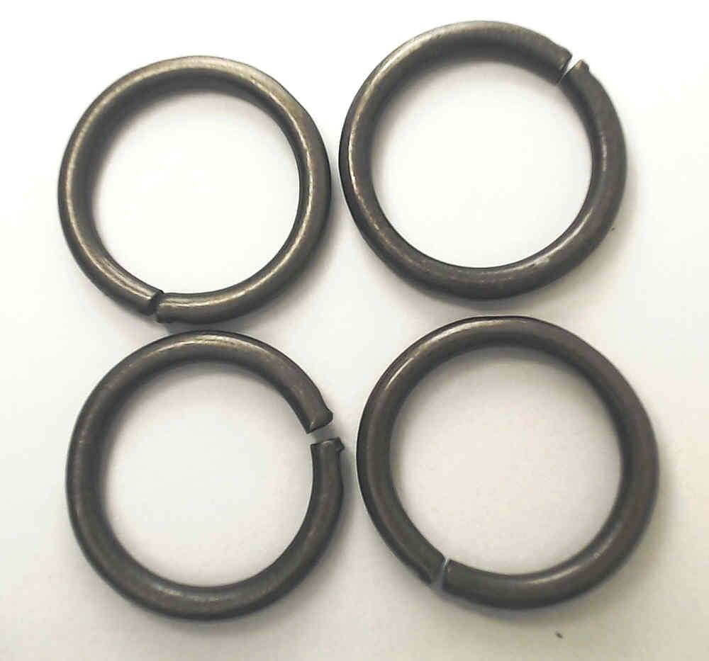 4 Stahlringe Altmessing 20mm Innendurchmesser / 4mm Drahtstärke ...
