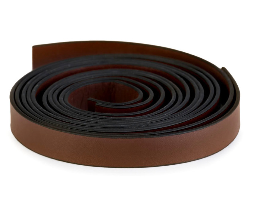 2 Stück Taschengriffe Lederriemen schwarz 120cm 15mm Eco-Leder vernäht