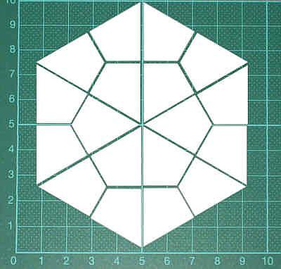 Papierschablonen zum ausdrucken - Hexagons, Dreiecke ...