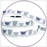 Webband Tassen weiß violett acufactum 2 cm breit
