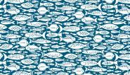 Patchworkstoff, Marina Fishes, 1772 B, maritime Motive, makower uk
