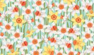 Patchworkstoff, Spring Daffodils, Osterglocken, 2192, makower