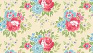 Patchworkstoff,For your Love, LG Rose Cream, by Renee Nanneman, 2/7774L, Makower uk