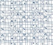 Westfalenstoff Klassiker, Hähnchen, weiß blau  001050161